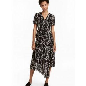 H&M Assymetrical Layered Wrap Dress